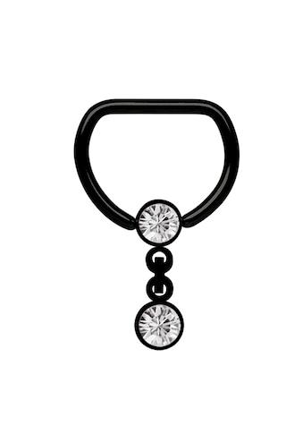 Adelia´s Brustwarzenpiercing »Brustpiercing D - Ring PVD schwarz mit Kette und Kugeln« kaufen