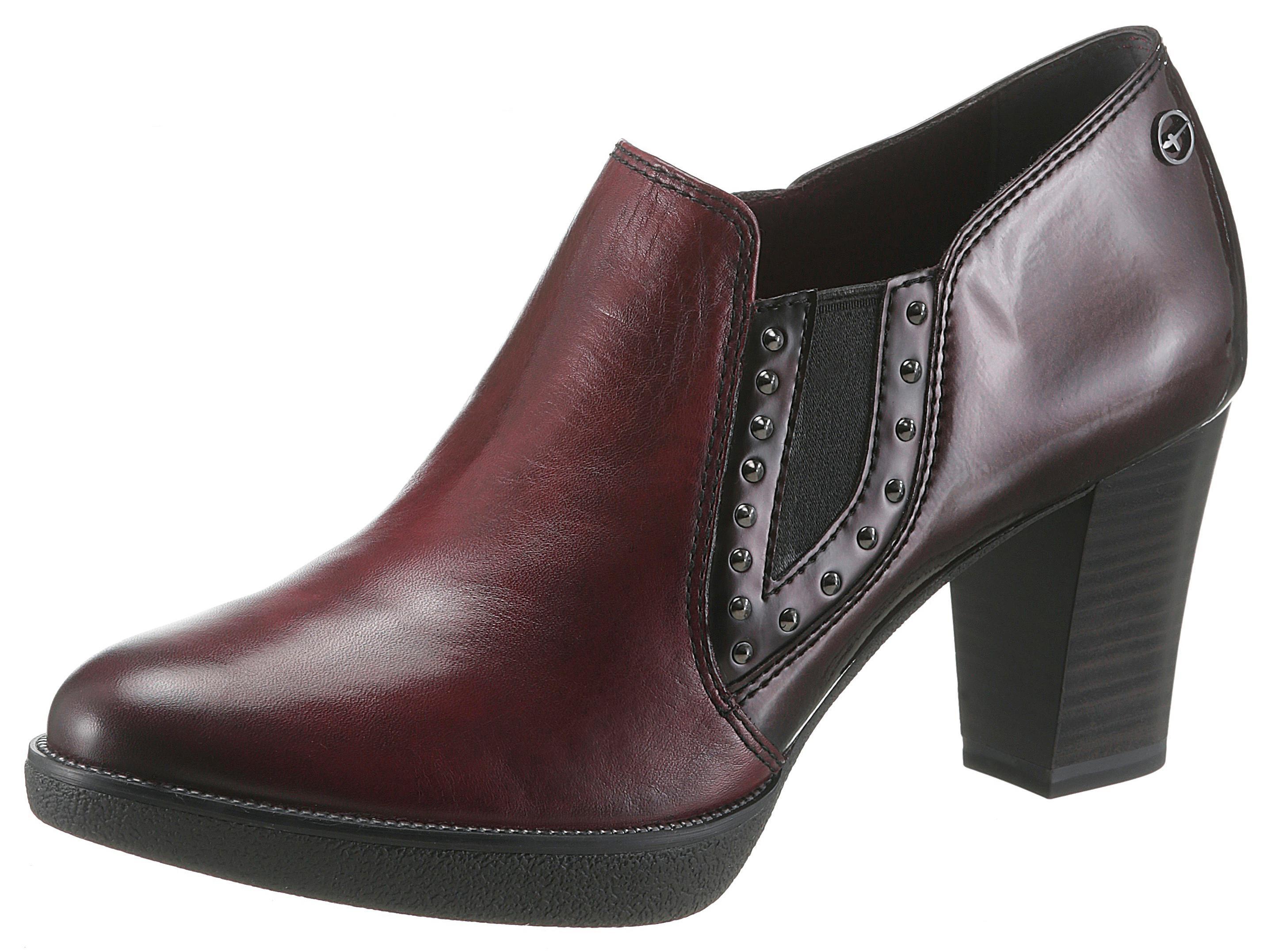 Tamaris Hochfrontpumps | Schuhe > Pumps > Hochfrontpumps | Rot | Leder | Tamaris