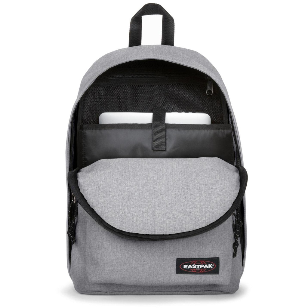 Eastpak Laptoprucksack »OUT OF OFFICE, Sunday Grey«, enthält recyceltes Material (Global Recycled Standard)