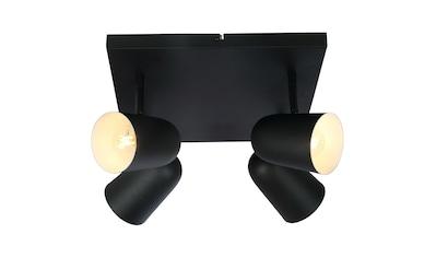 Brilliant Leuchten Ayr Spotplatte 4flg schwarz matt kaufen
