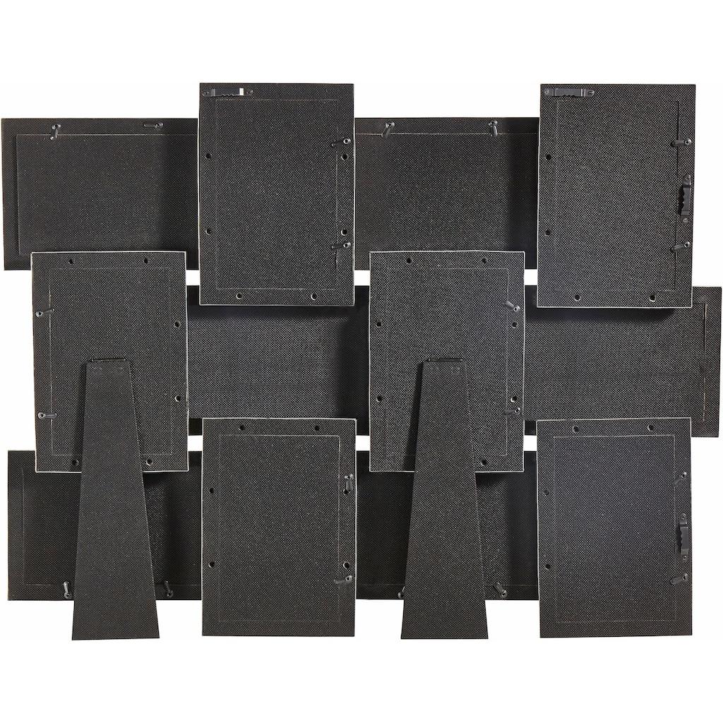 my home Galerierahmen, für 12 Bilder, aus Aluminium, für 12 Fotos