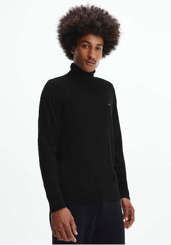Calvin Klein Rollkragenpullover »SUPERIOR WOOL TURTLE NK SWEATER«, mit hohem Rollkragen kaufen