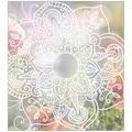 MySpotti Fensterfolie »Look Zangtangel white«, halbtransparent, glattstatisch haftend, 90 x 100 cm, statisch haftend
