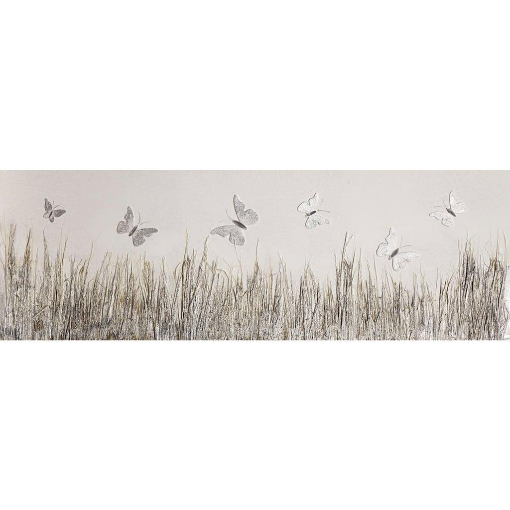 Spiegelprofi GmbH Leinwandbild »Butterfly meadow«, (1 St.)
