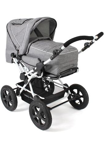 CHIC4BABY Kombi-Kinderwagen »Viva, Melange Grau«, 15 kg kaufen