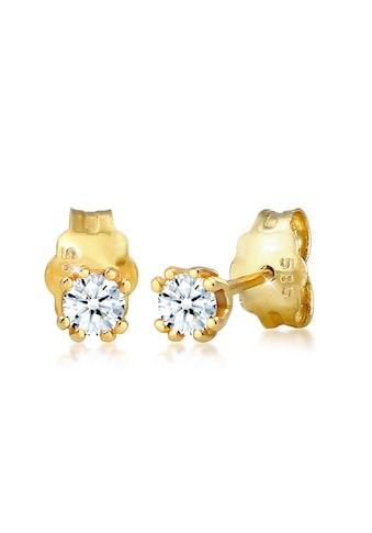 Diamore Paar Ohrstecker »Solitär Stecker Diamant (0.06 ct.) 585 Gelbgold« kaufen