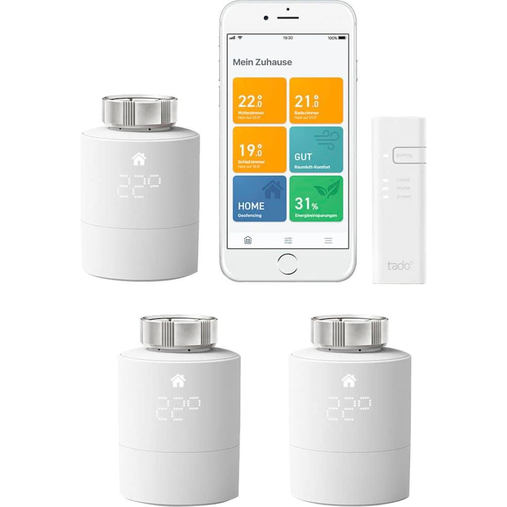 Tado Smart-Home Starter-Set »Smartes Heizkörper-Thermostat V3+ mit 2 zusätzlichen Heizkörper-Thermostaten«