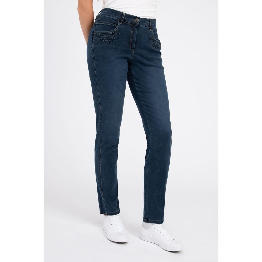 Recover Pants Straight-Jeans, mit Zierperlen