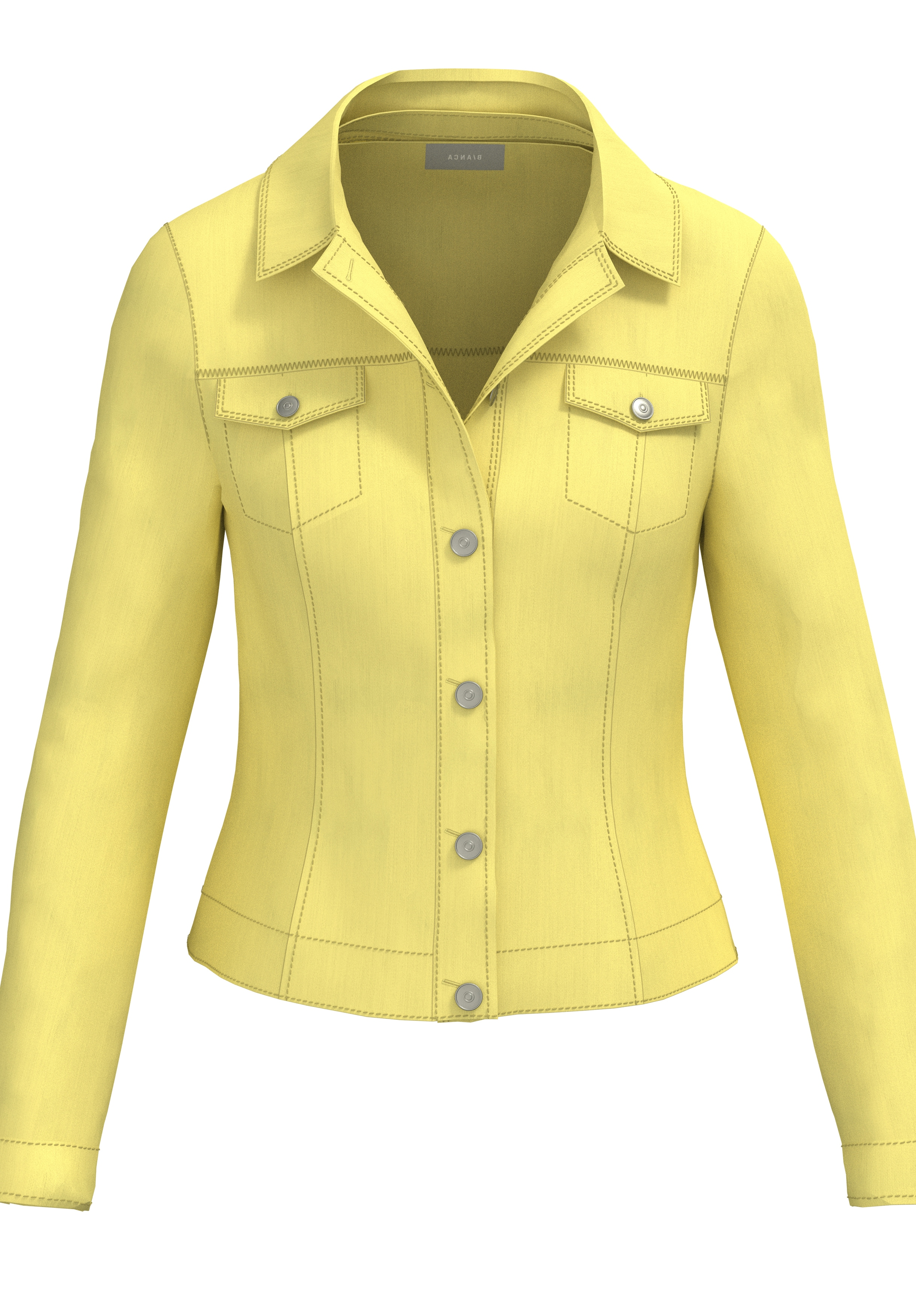 bianca Jeansjacke JUNE, in strahlender, sommerlicher Trendfarbe