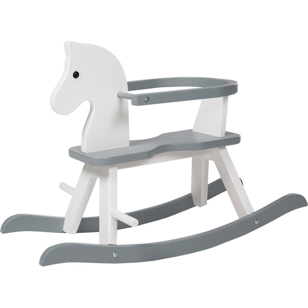 roba® Schaukelpferd »Weiß/Grau«, aus Holz