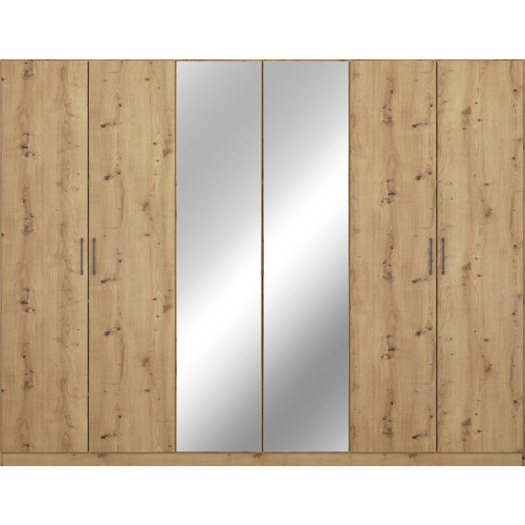 rauch ORANGE Drehtürenschrank »Thor«, inkl. Meshkorbeinsatz mit 2 Metallkörben, 2 Stoffboxen und zusätzlichen Einlegeböden, optional mit Spiegel