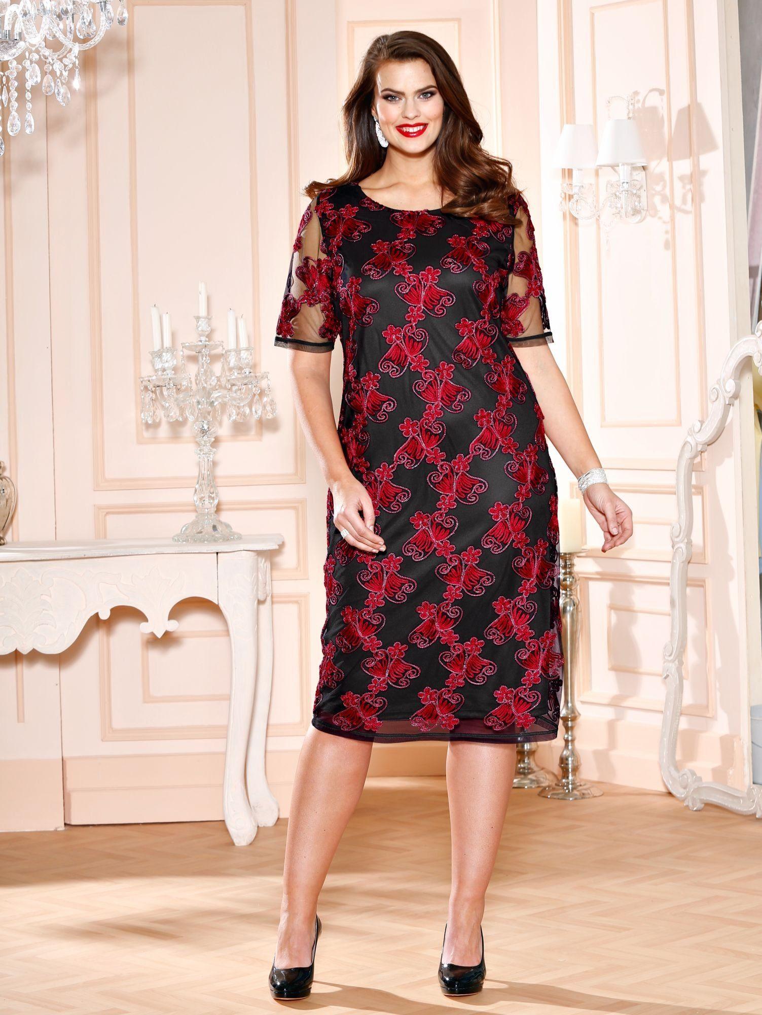 m. collection Kleid mit aufwendigen Stickereien