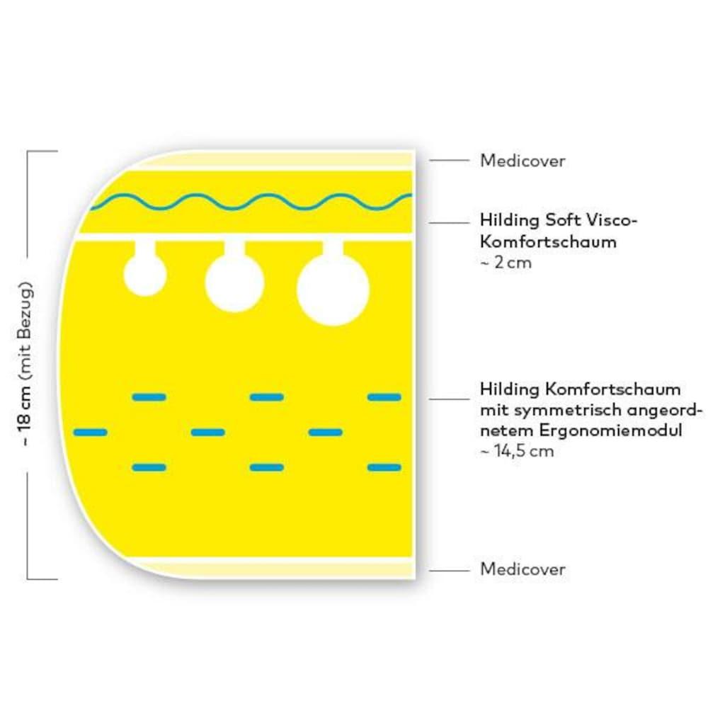 Hilding Sweden Visco-Matratze »Essentials«, (1 St.), Wendematratze mit zwei unterschiedlich festen Liegeseiten