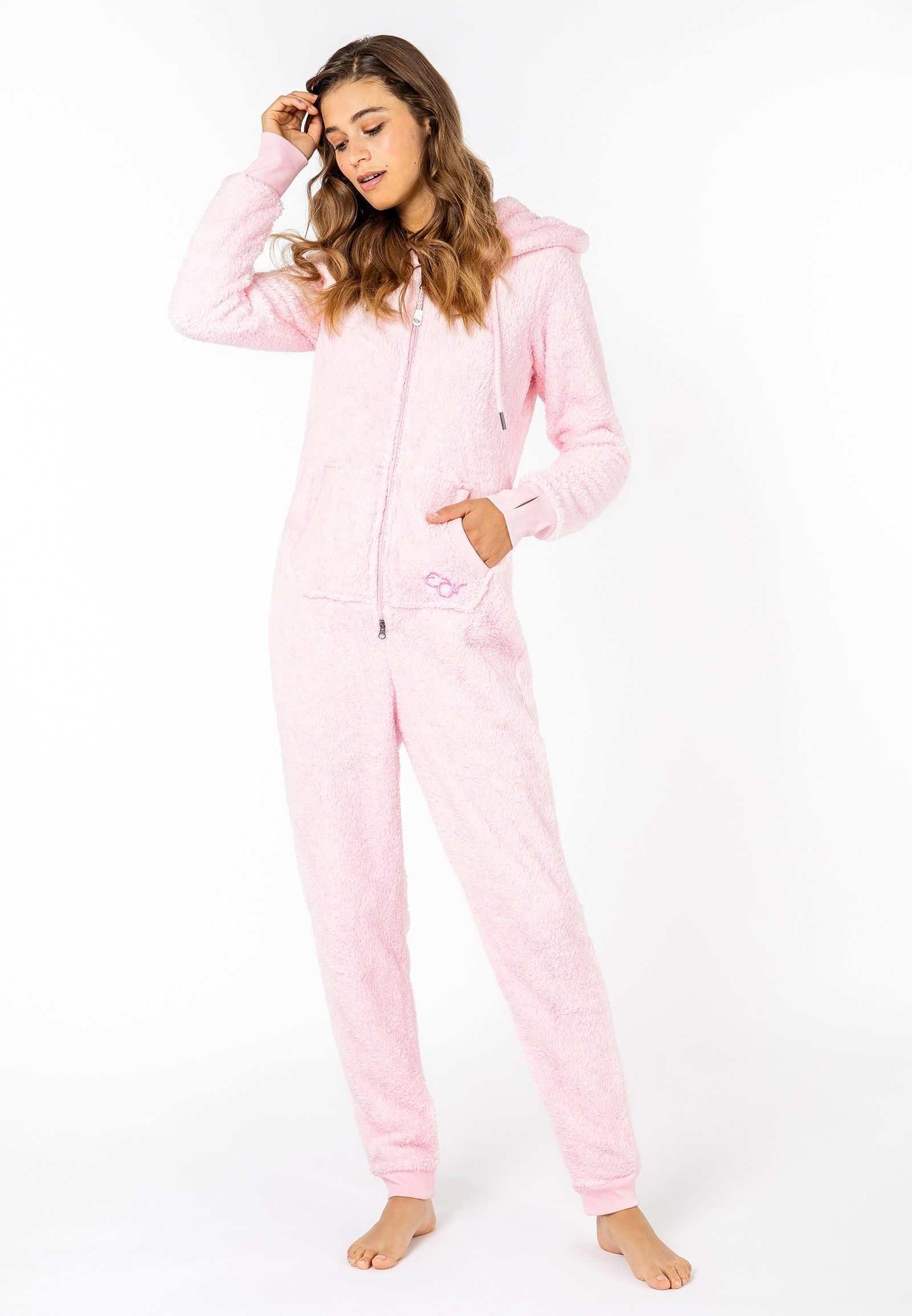 Eight2Nine Overall, aus Fleece rosa Damen Overalls H-Typ Figurtyp-Beratung Overall