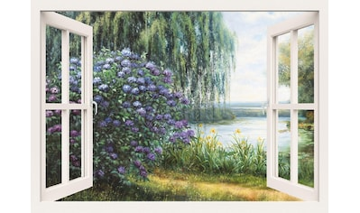Home affaire Leinwandbild »Heins, A.: Hortensien am See« kaufen