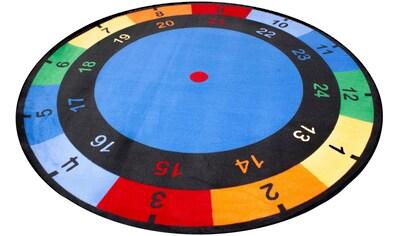 Primaflor-Ideen in Textil Kinderteppich »UHR«, rund, 5 mm Höhe, Spielteppich, Uhrzeit lernen kaufen