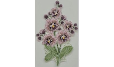 Stickereien Plauen Fensterbild »Orchidee« kaufen