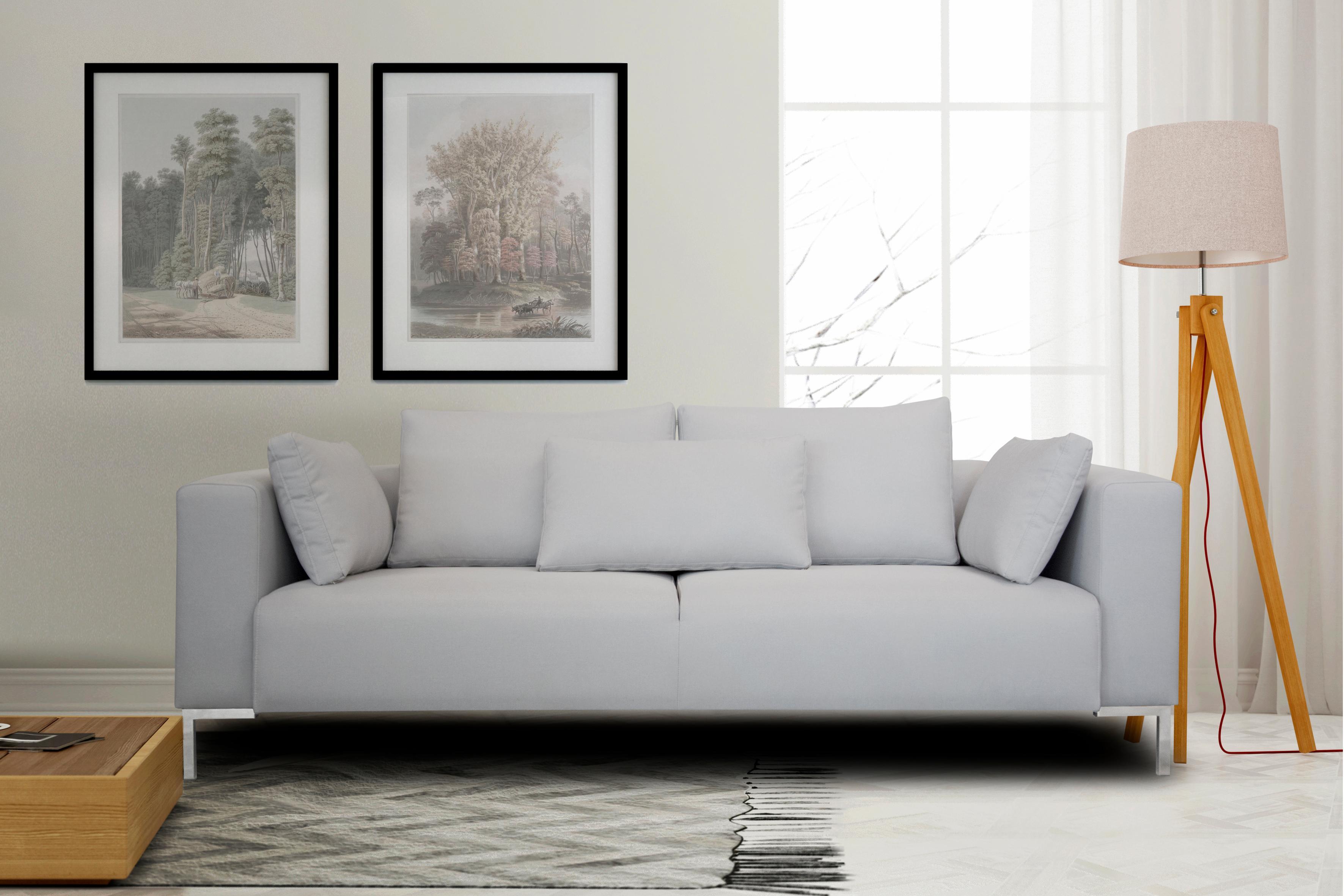 INOSIGN 3-Sitzer »Perle« in tollem Design, Metalbeine, Zierkissen