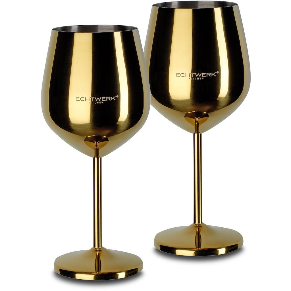 ECHTWERK Weinglas, (Set, 2 tlg.), PVD Beschichtung
