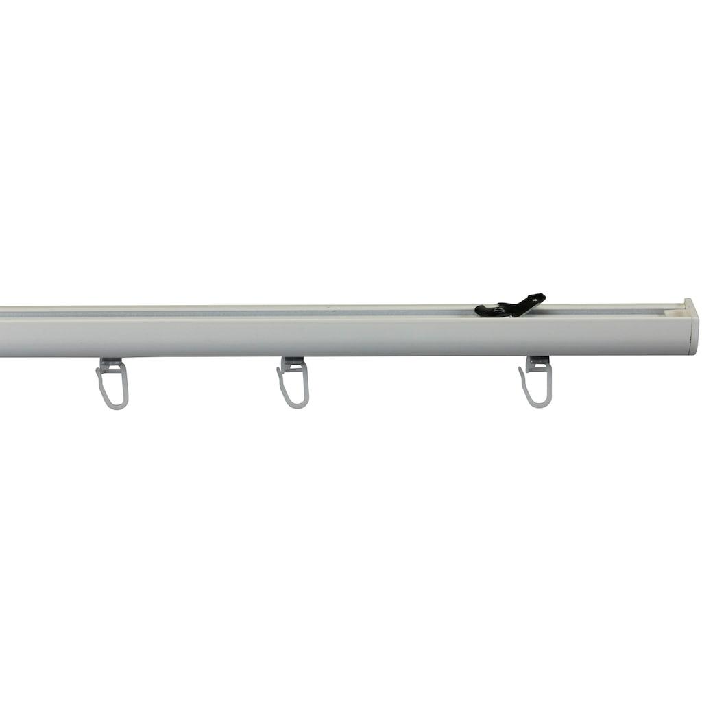 GARESA Gardinenschiene »Schleuderschiene 400, für verdeckte Montage«, 1 läufig-läufig, Wunschmaßlänge