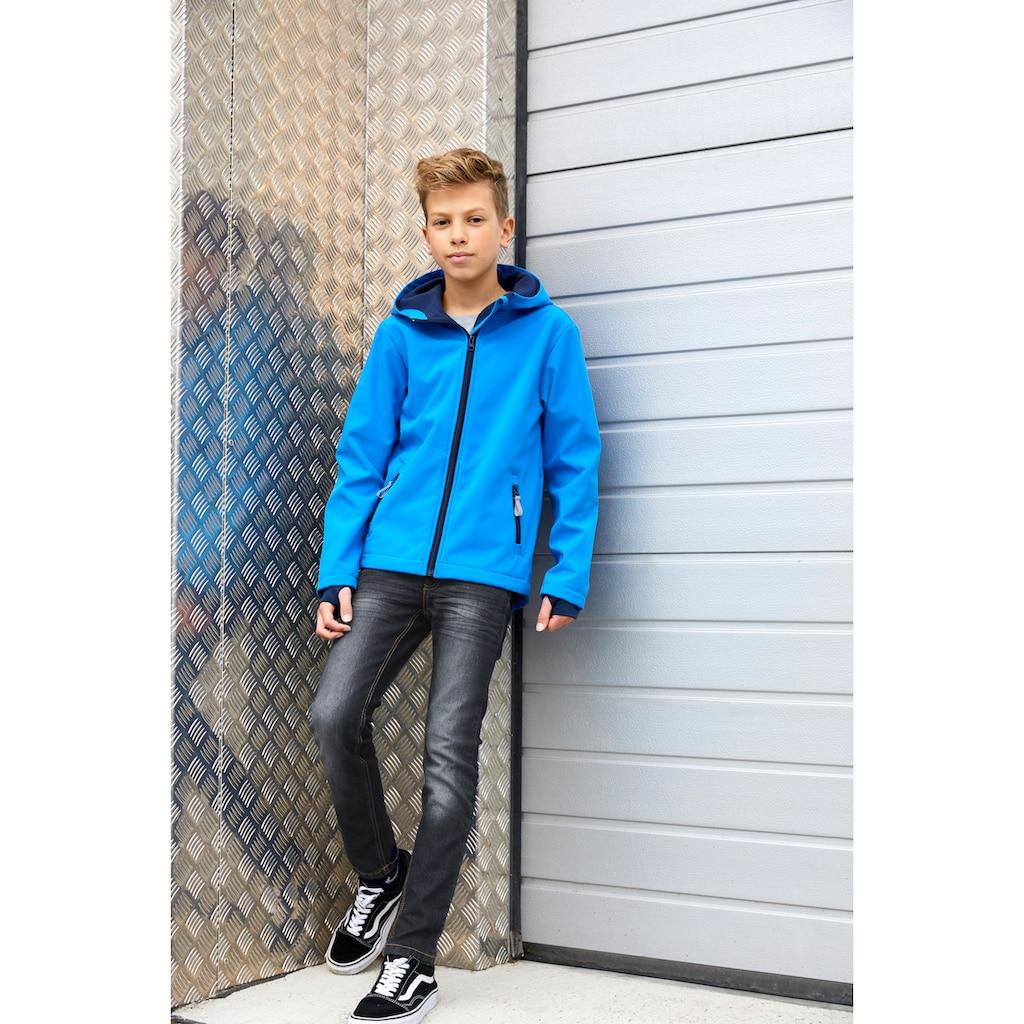 KIDSWORLD Softshelljacke »mit kontrastfarbenen Details«