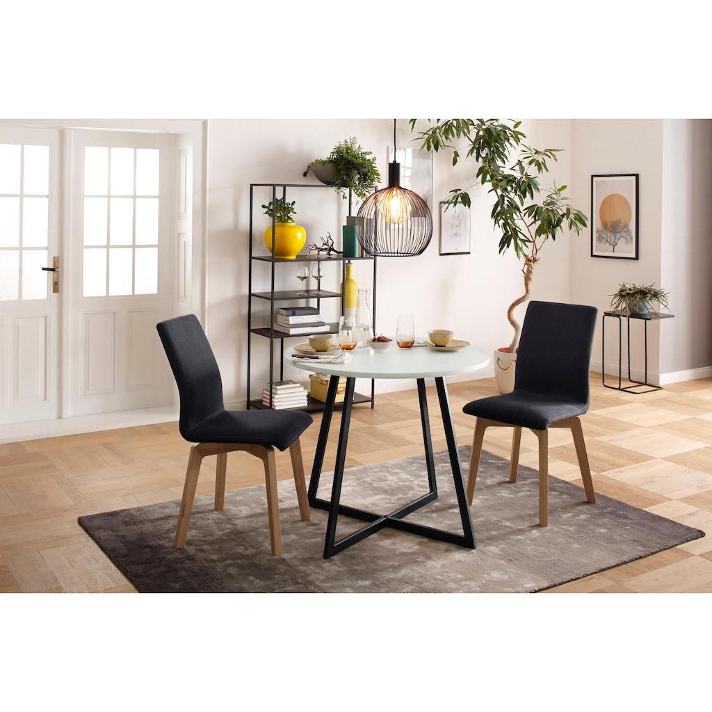my home Polsterstuhl »Nola«, Bezug mit Feinstruktur