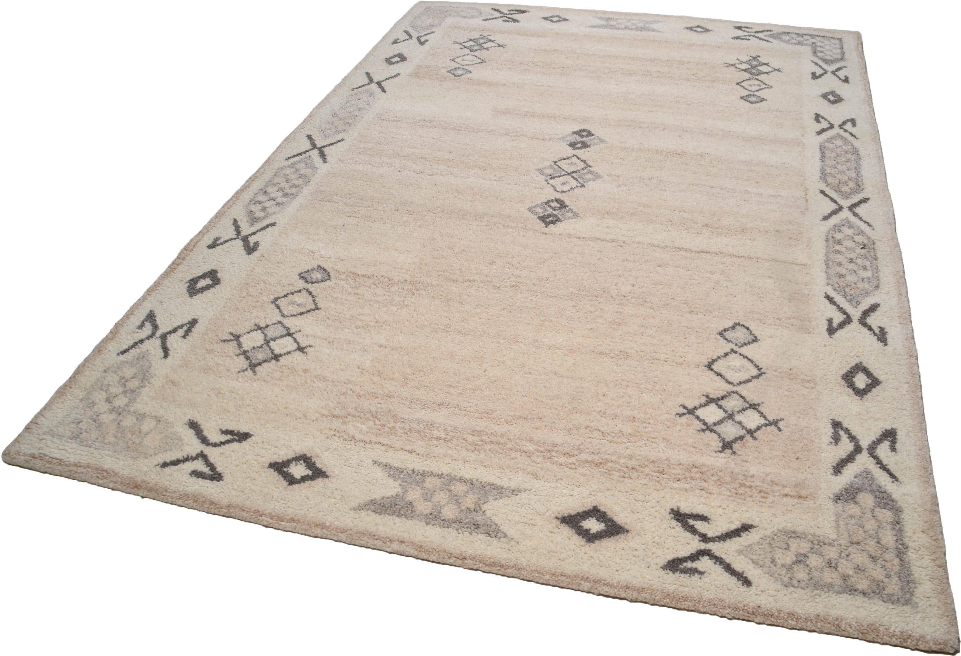 Teppich Royal Berber THEKO rechteckig Höhe 18 mm handgetuftet