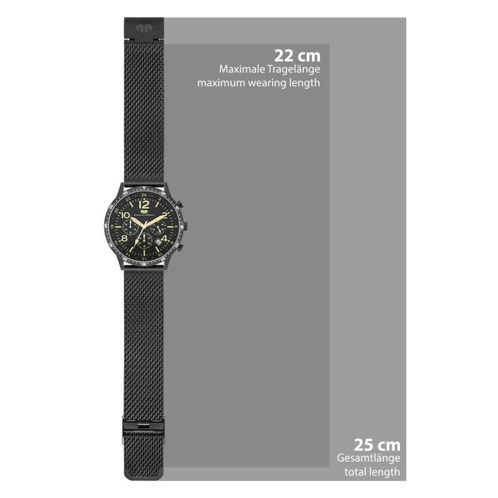 Rhodenwald & Söhne Chronograph »RWS003«, (1 tlg.), Armband aus Edelstahl