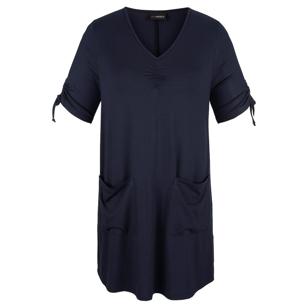 MIAMODA Longshirt, mit streckendem V-Ausschnitt