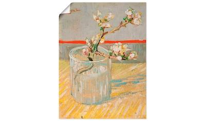 Artland Wandbild »Blühender Mandelbaumzweig in einem Glas«, Blumen, (1 St.), in vielen... kaufen