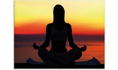 Artland Glasbild »Yoga im Sonnenuntergang«, Spa, (1 St.) kaufen