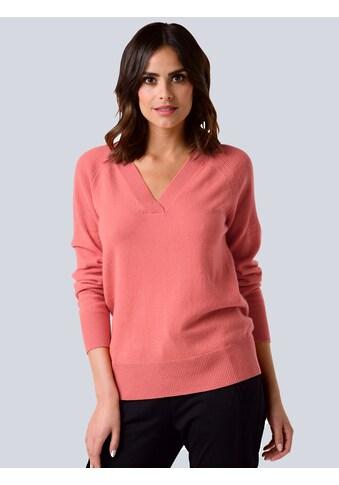 Alba Moda V-Ausschnitt-Pullover, aus hochwertiger reiner Kaschmirqualität kaufen
