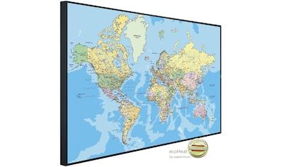 Papermoon Infrarotheizung »Weltkarte«, sehr angenehme Strahlungswärme kaufen