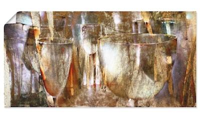 Artland Wandbild »Lichtspiel«, Getränke, (1 St.), in vielen Größen & Produktarten - Alubild / Outdoorbild für den Außenbereich, Leinwandbild, Poster, Wandaufkleber / Wandtattoo auch für Badezimmer geeignet kaufen