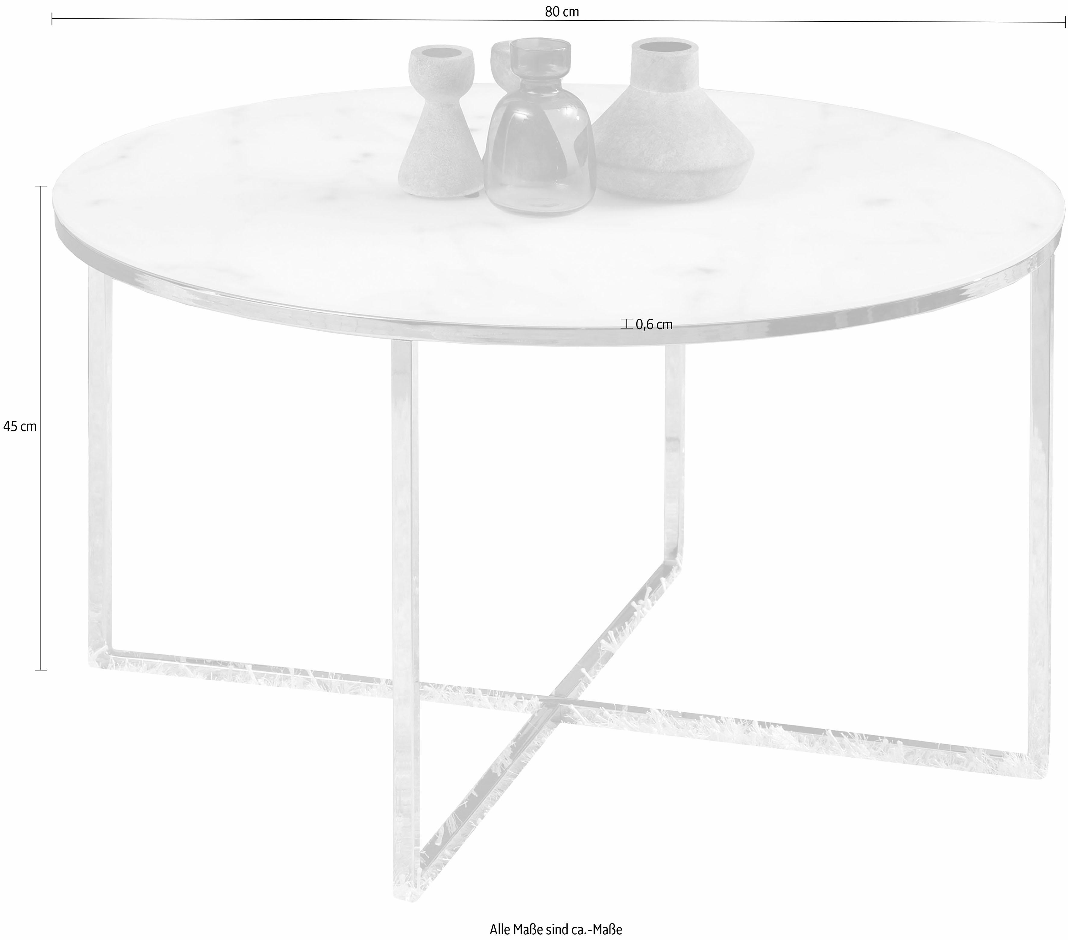 Großartig Couchtisch Glas Chrom Gestell Referenz Von Andas »alinaÂ« Mit Einer Glasplatte In Mamoroptik