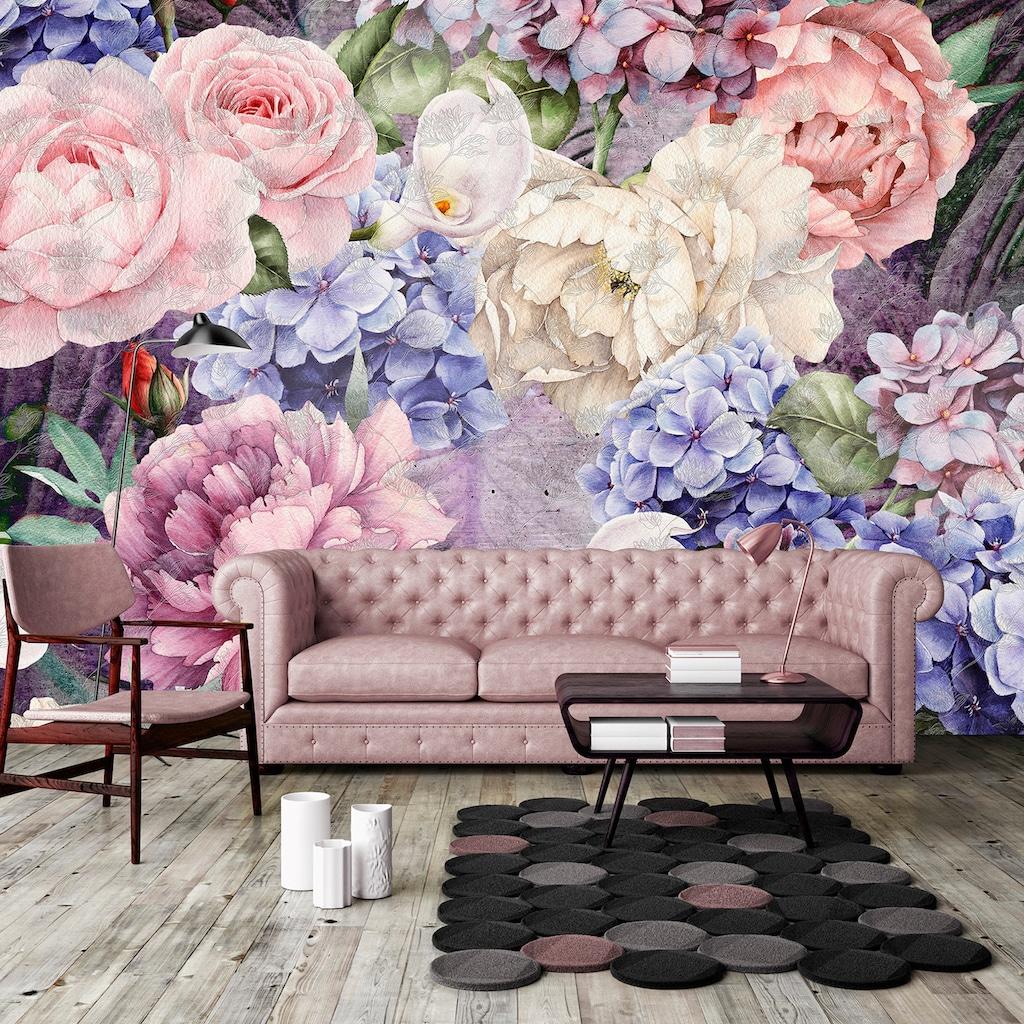 Consalnet Vliestapete »Bunter Blumen Mix«, floral
