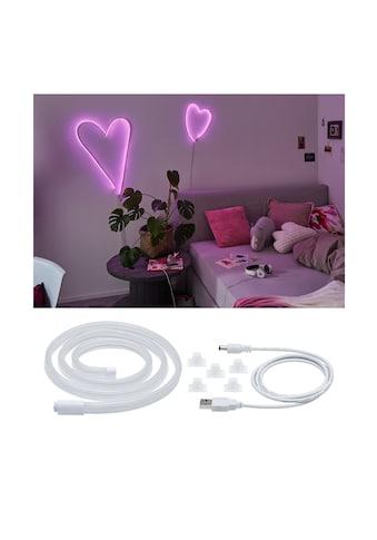 Paulmann LED-Streifen »Neon Colorflex USB Strip Pink 1m 4,5W 5V weiß Kunststoff«, 1... kaufen
