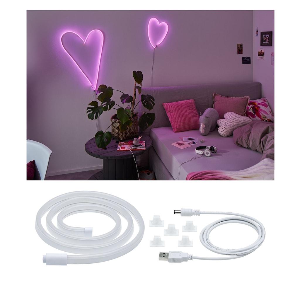 Paulmann LED-Streifen »Neon Colorflex USB Strip Pink 1m 4,5W 5V weiß Kunststoff«, 1 St.-flammig