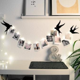 Wall-Art Hängedekoration »Foto Klammern LED Lichterkette«