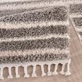 Carpet City Hochflor-Teppich »Pulpy 520«, rechteckig, 30 mm Höhe, mit Fransen, Wohnzimmer