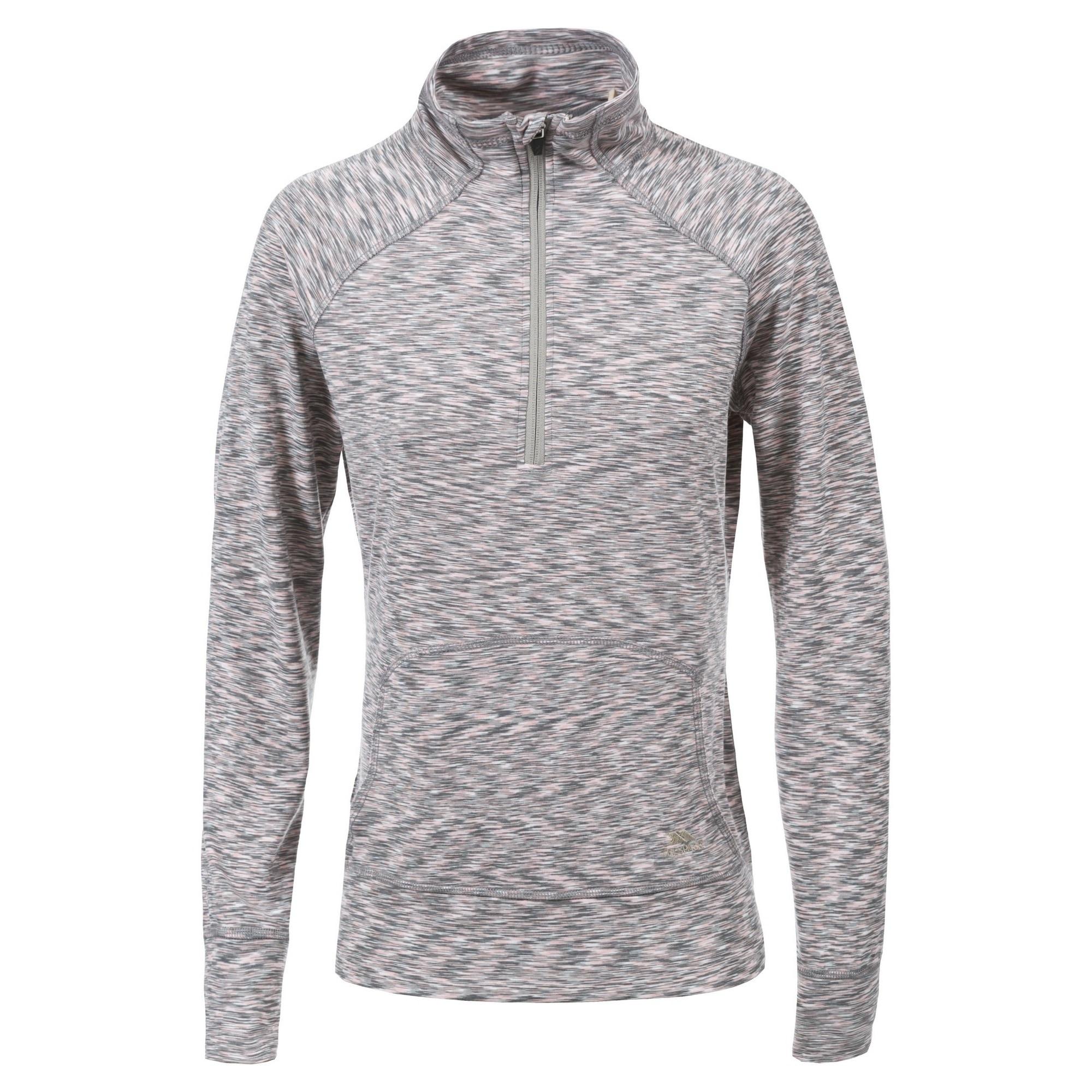 Trespass Fleeceshirt Damen Moxie Fleece-Top mit Reißverschluss bis zur Brust | Bekleidung > Sweatshirts & -jacken > Fleeceshirts | Grau | Trespass