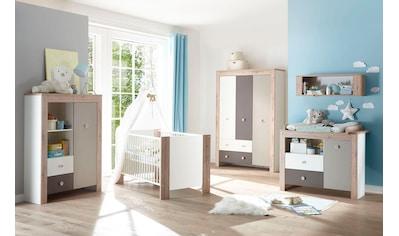 Babyzimmer-Komplettset »Madrid«, (Set, 3 St.), Bett + Wickelkommode + 3 trg.... kaufen
