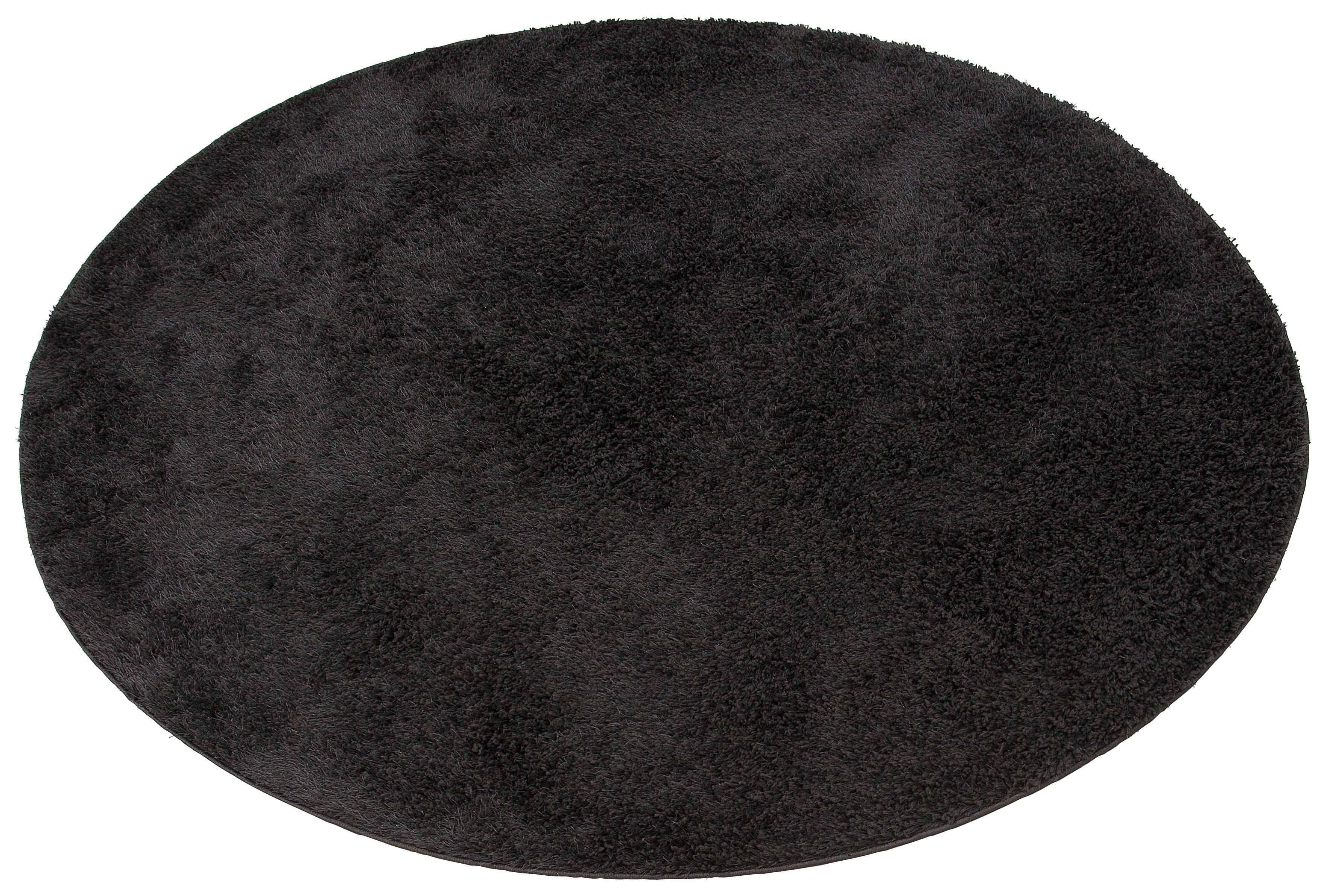 Hochflor-Teppich, »Mikro Soft Ideal«, my home, rund, Höhe 30 mm, maschinell gewebt | Heimtextilien > Teppiche > Hochflorteppiche | Schwarz | MY HOME