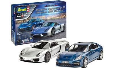 Revell® Modellbausatz »Porsche«, 1:24, mit zwei Porsche-Modellen; Made in Europe kaufen