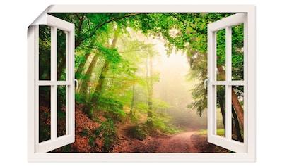 Artland Wandbild »Fensterblick Torbögen durch Bäume«, Wald, (1 St.), in vielen Größen... kaufen
