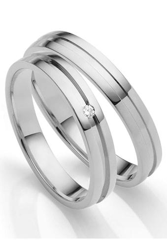 Firetti Trauring »glanz, diamantgeschnittener Vertiefung, 3,5 mm breit«, Made in... kaufen