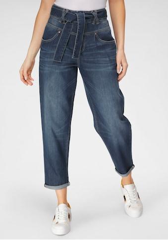 Herrlicher 7/8-Jeans »KABIRA CASHMERE TOUCH DENIM«, (2 tlg., mit abnehmbarem Gürtel),... kaufen