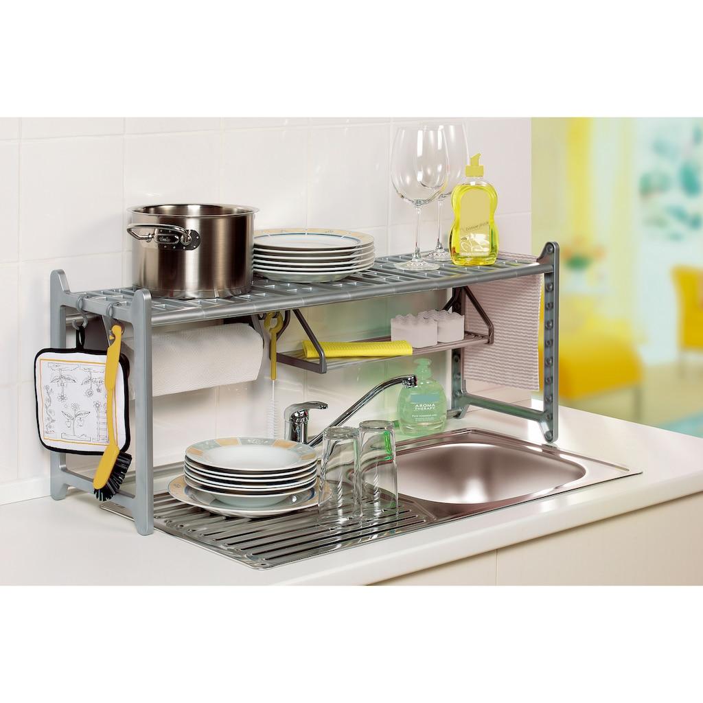Ruco Küchenregal, Aluminium/Kunststoff, variabel in Höhe und Breite