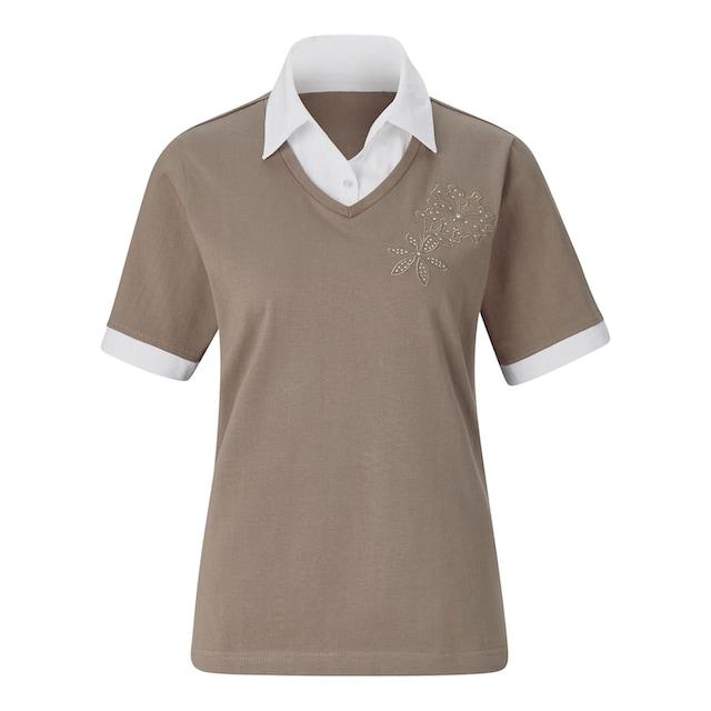 Classic Basics Shirt in beliebter 2-in-1-Optik