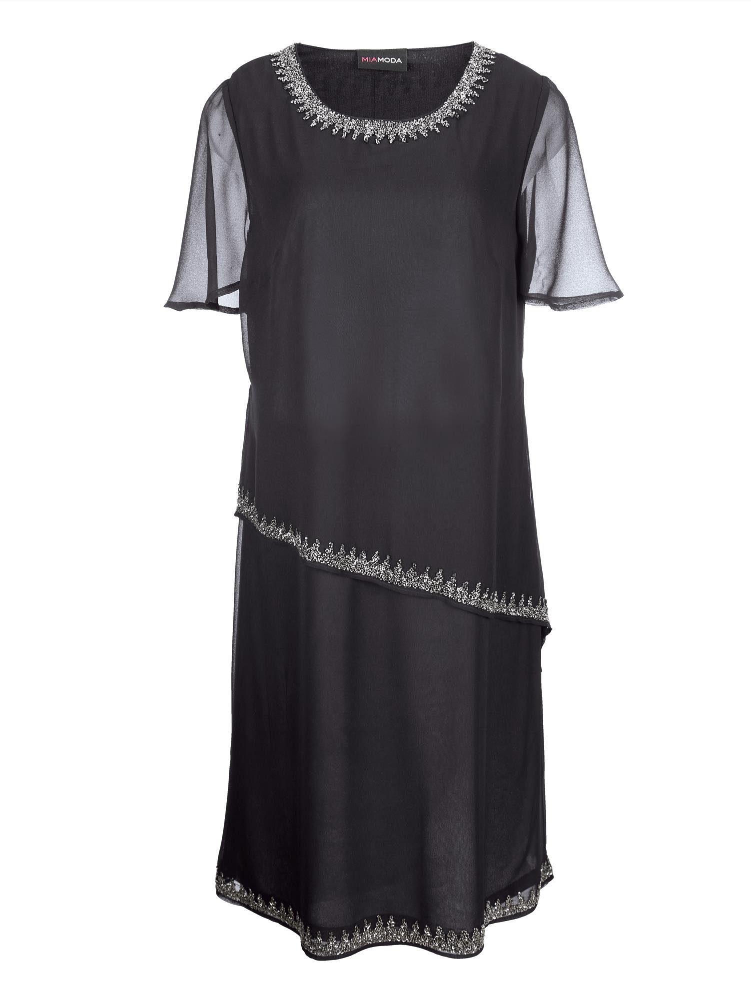 MIAMODA Kleid mit aufwendiger Perlenstickerei